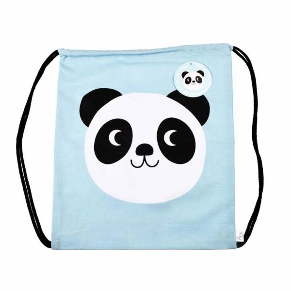 Rex Turnbeutel Panda Miko blau Baumwolle