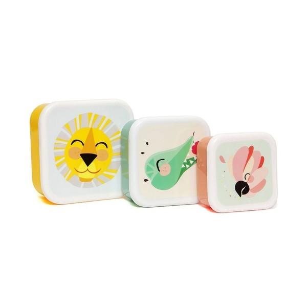 Petit Monkey Brotdosen Set Tiere | Löwe 3er