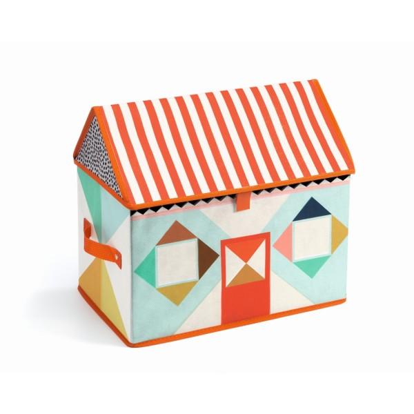 Djeco Spielzeugbox Haus faltbar