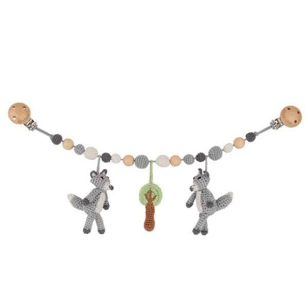 Sindibaba Kinderwagenkette Rassel Fuchs grau