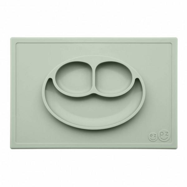 ezpz Happy Mat Silikon Platzmatte Teller mandelgrün