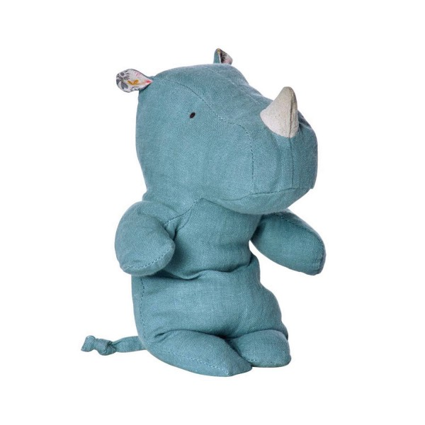 Maileg Nashorn Safari Friends Blau 23cm