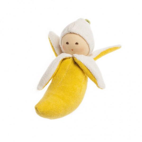 Nanchen Puppen Greifling Banane gelb
