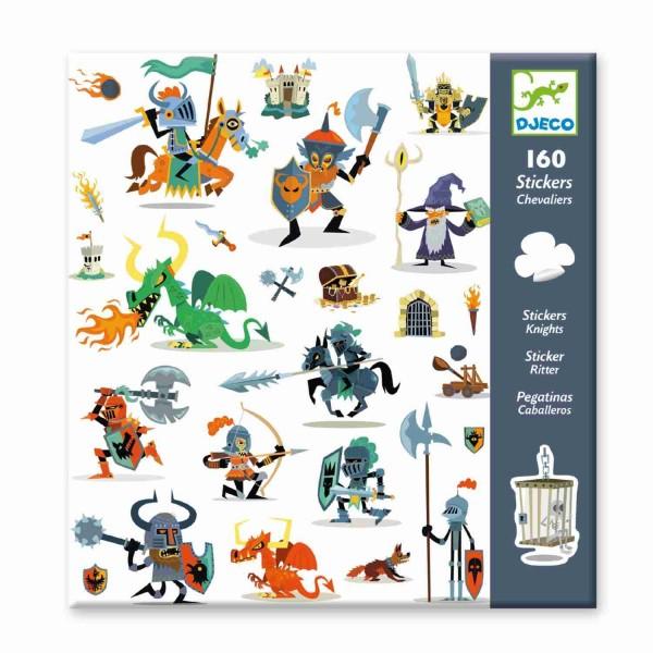 Djeco Sticker Ritter und Drachen 160 Stück