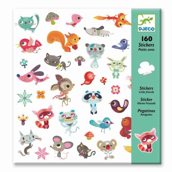 Djeco Sticker Kleine Freunde Aufkleber 160 Stück