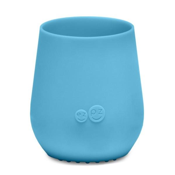 ezpz Tiny Cup Silikon Trinkbecher blau