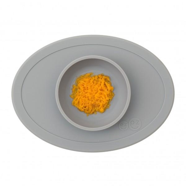 ezpz Tiny Bowl Silikon Platzmatte Teller grau