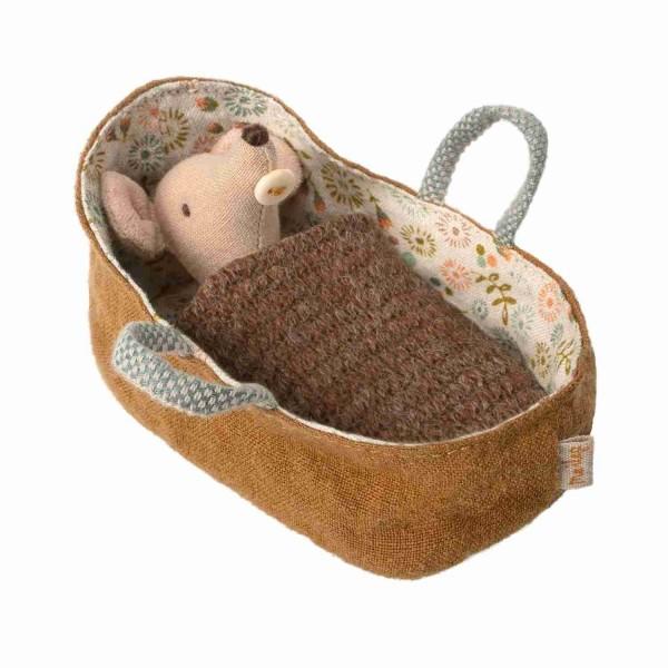 Maileg Baby Maus Puppe mit Tragetasche