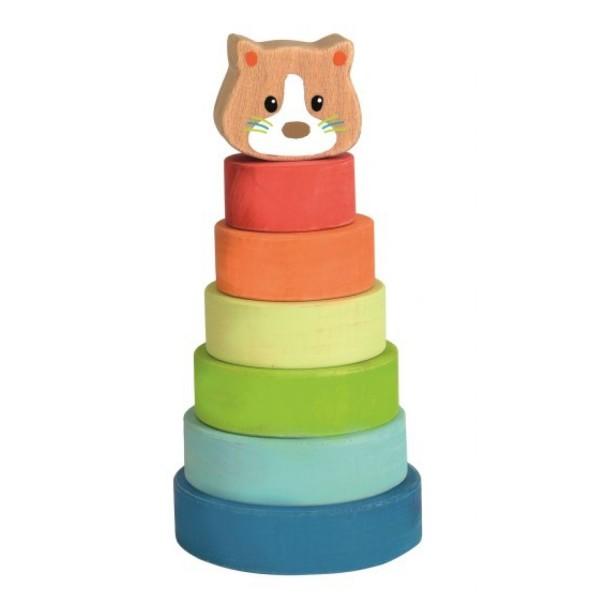 Egmont Toys Stapelturm Holz Katze