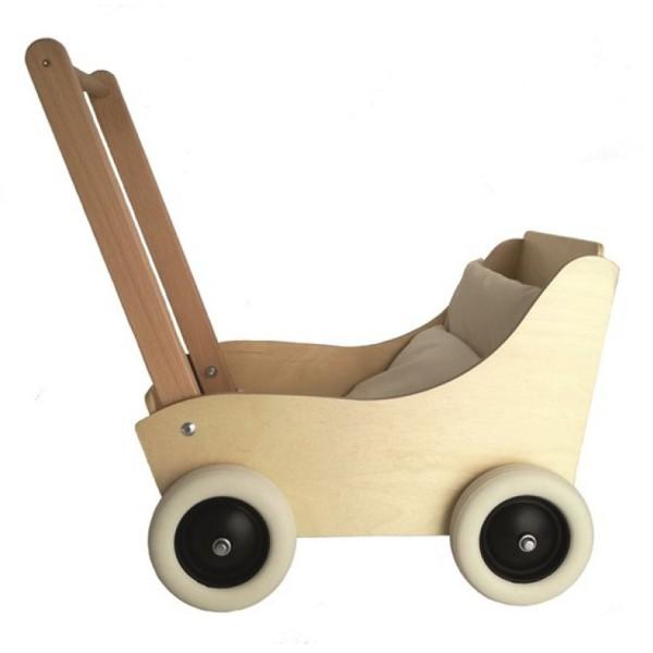 Egmont Toys Puppenwagen Holz Natur