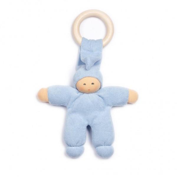 Nanchen Puppen Pimpel Holz Ring hellblau