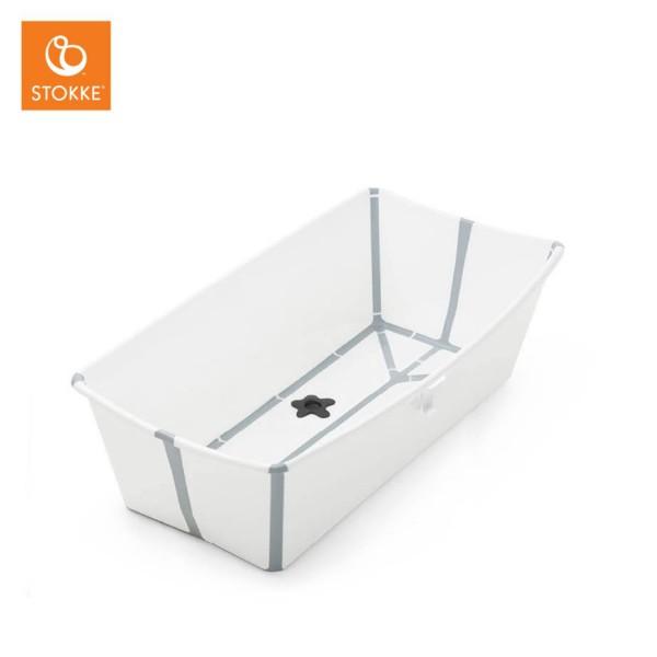 STOKKE Flexi Bath Badewanne Weiß Grau