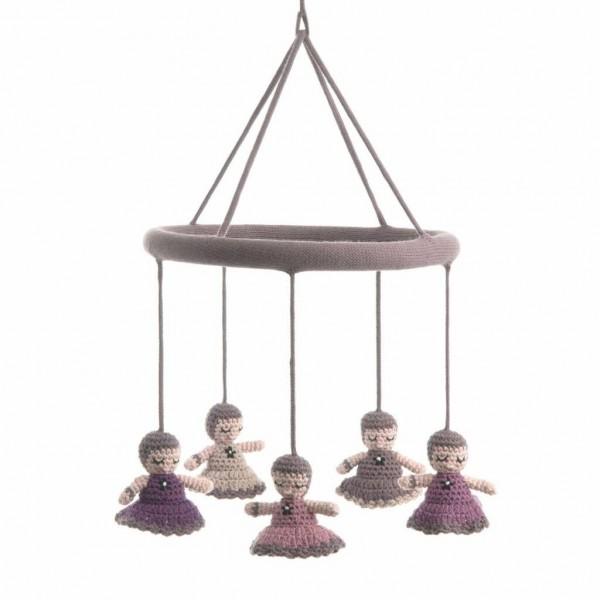 Smallstuff Mobile Babushka Puppen rosa