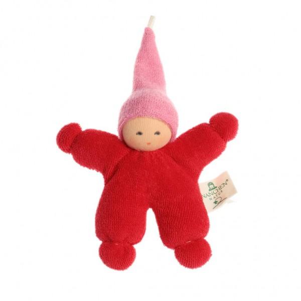 Nanchen Puppen Wichtel rot rosa