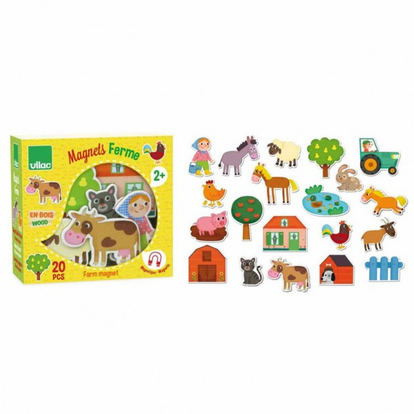 Vilac Magnete Holz Farm Tiere 20 Stück