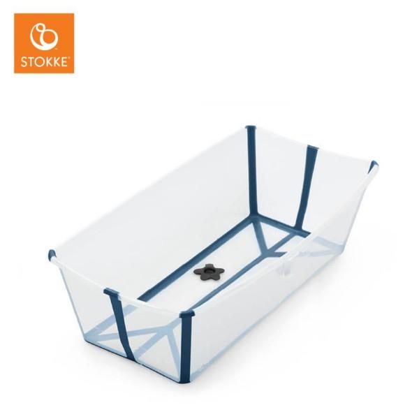 STOKKE Flexi Bath Badewanne Transparent Blau