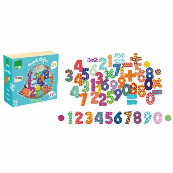 Vilac Magnete Holz Zahlen 56 Stück
