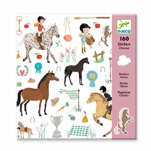 Djeco Sticker Pferde 160 Stück