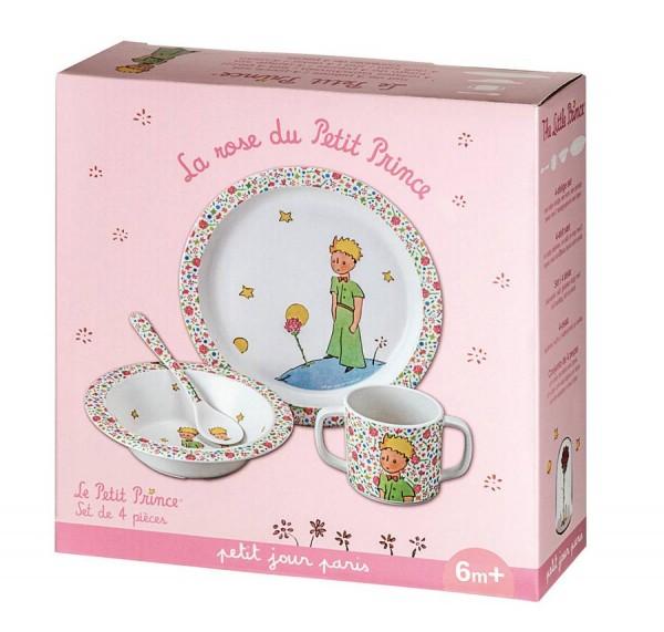 Petit Jour Kleiner Prinz 4-teiliges Set rosa
