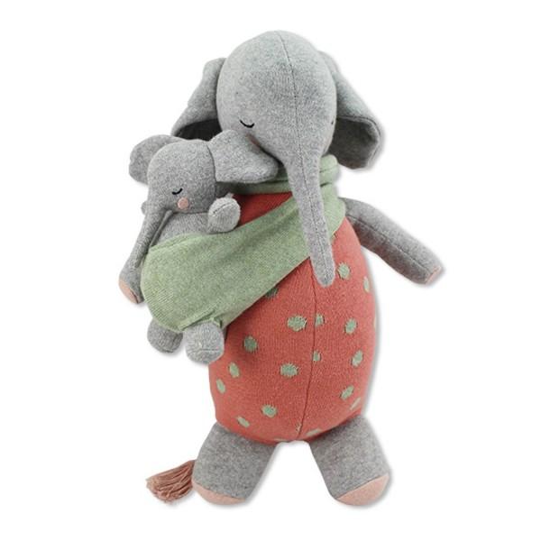 Ava and Yves Kuscheltier Elefant mit Baby MARLENE