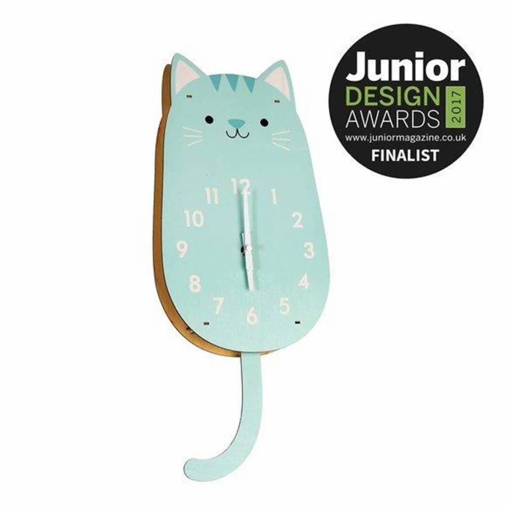 Rex Wanduhr Katze | Designer Uhr Kinderzimmer | Milchwiese ...