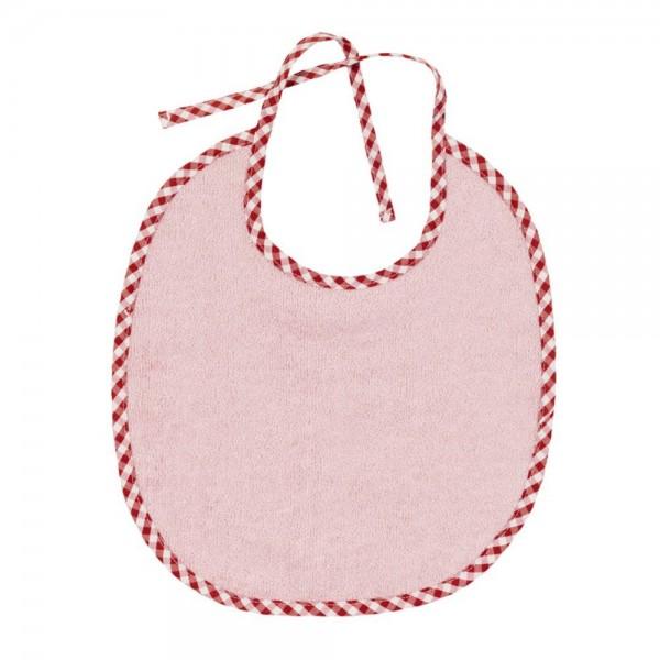 Efie Lätzchen rosa klein Vichy Borte kbA