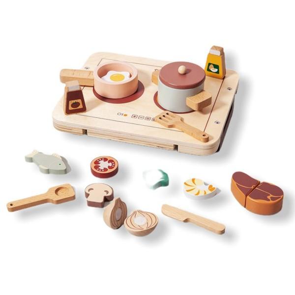 Petit Monkey Holz Küche | Set Essen & Töpfe