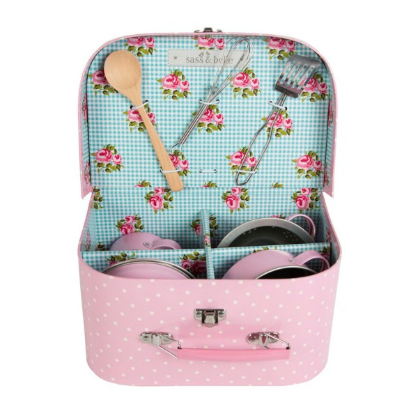 Sass and Belle Küchen Koffer Punkte rosa