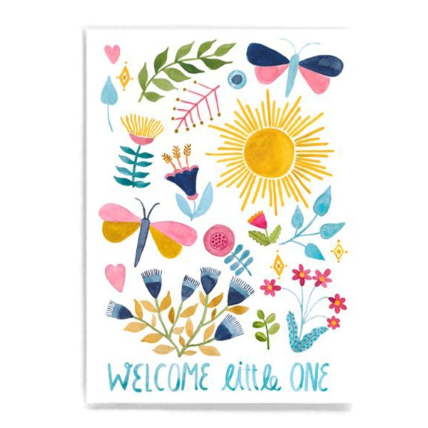 FRAU Ottilie Postkarte Welcome Little One