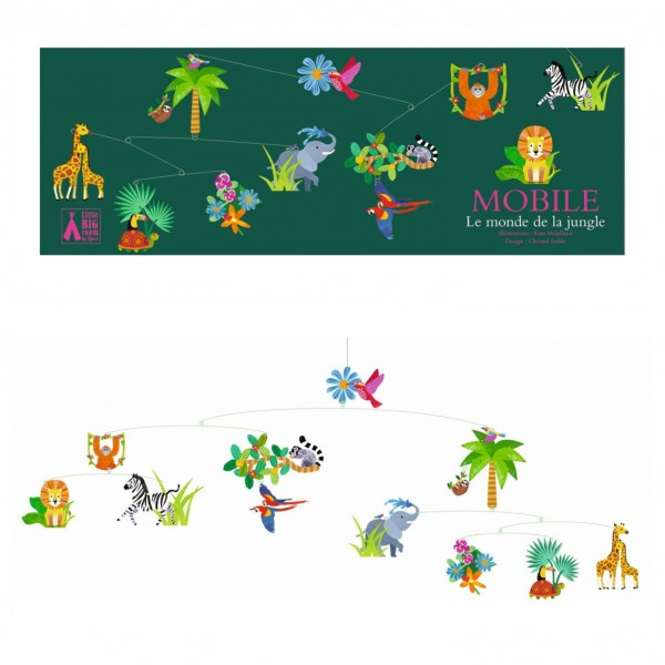 Djeco Mobile Polypro   Welt des Dschungels