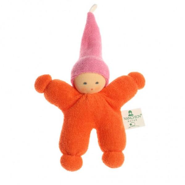 Nanchen Puppen Wichtel orange rosa