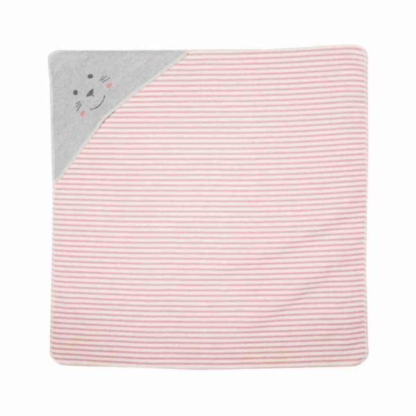 David Fussenegger Juwel Decke Kapuze Robbe gestreift rosa