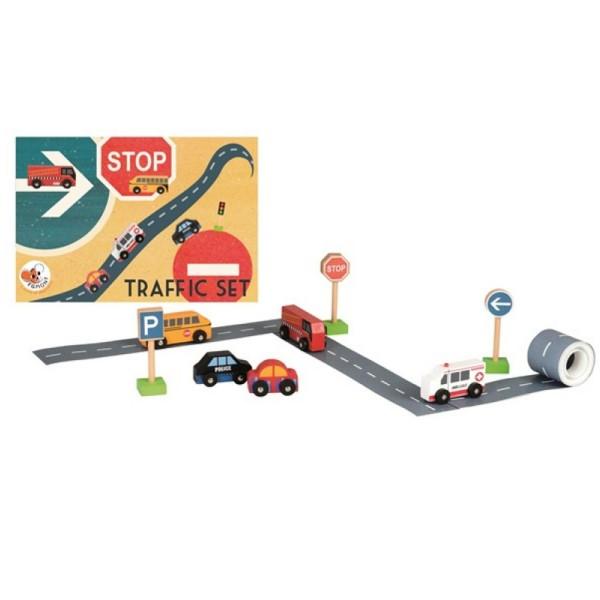 Egmont Toys Straßen Set | Holz Autos