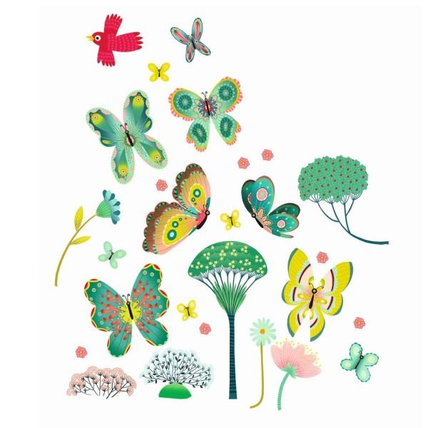 Djeco Fensterbilder Schmetterlinge im Garten