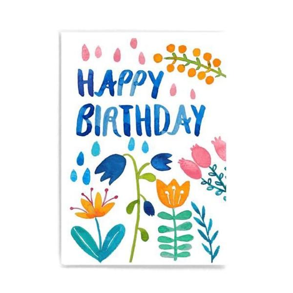 FRAU Ottilie Postkarte Happy Birthday bunt