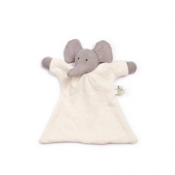 Nanchen Puppen Nuckelelefant grau Bio