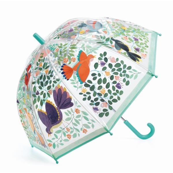 Djeco Regenschirm Blume & Vögel blau