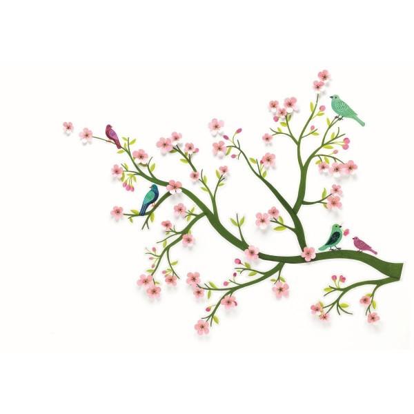 Djeco Wandsticker | Kirschbaum Blüten rosa