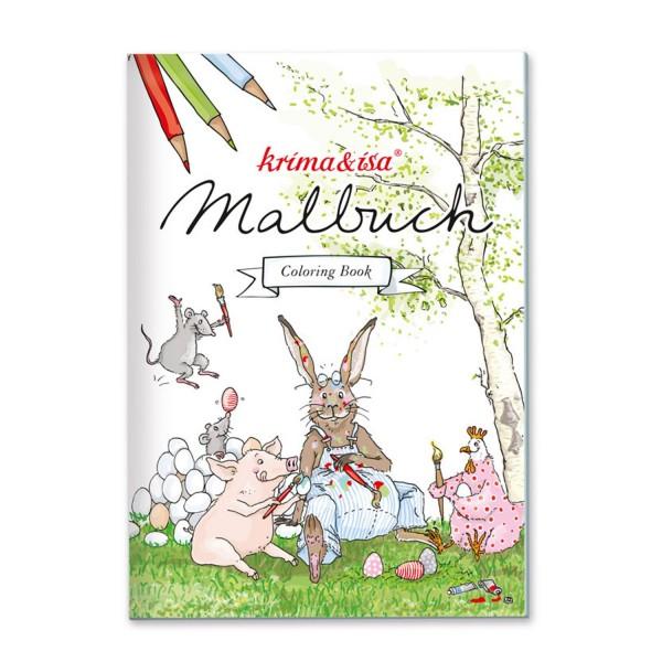 KRIMA & ISA Malbuch Tiere Ostern A5