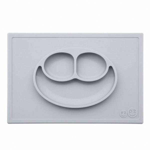 ezpz Happy Mat Silikon Platzmatte Teller silber grau