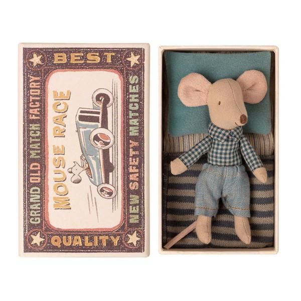 Maileg Maus kleiner Bruder Jeans in Box