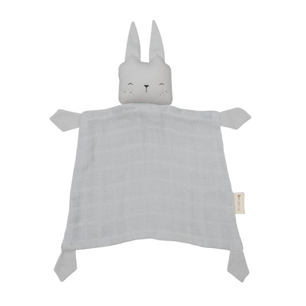 Fabelab Kuscheltuch Hase Ice grau | BIO