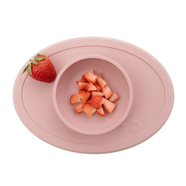 ezpz Tiny Bowl Silikon Platzmatte Teller rosa