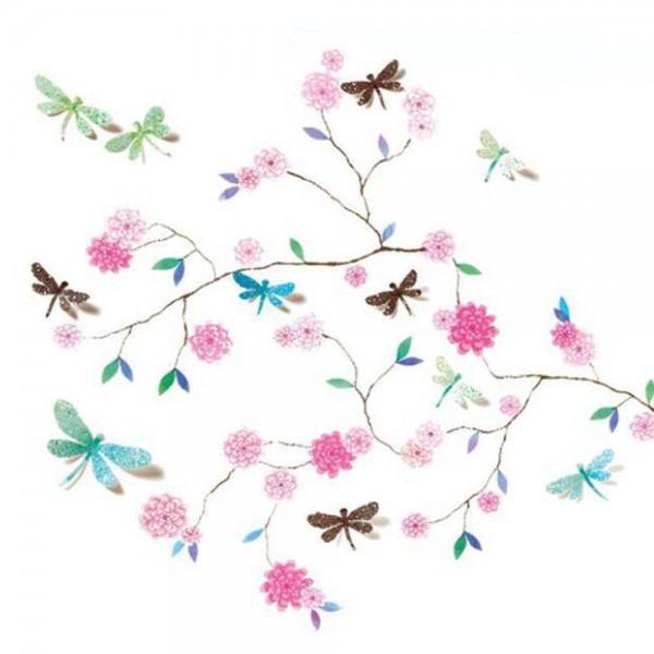 Djeco Wandsticker | Libellenbaum rosa