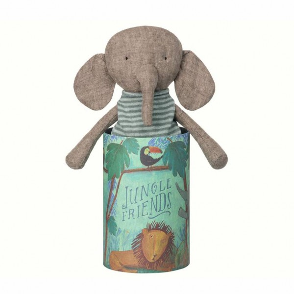 Maileg Elefant Kuscheltier Jungle Friends mit Dose