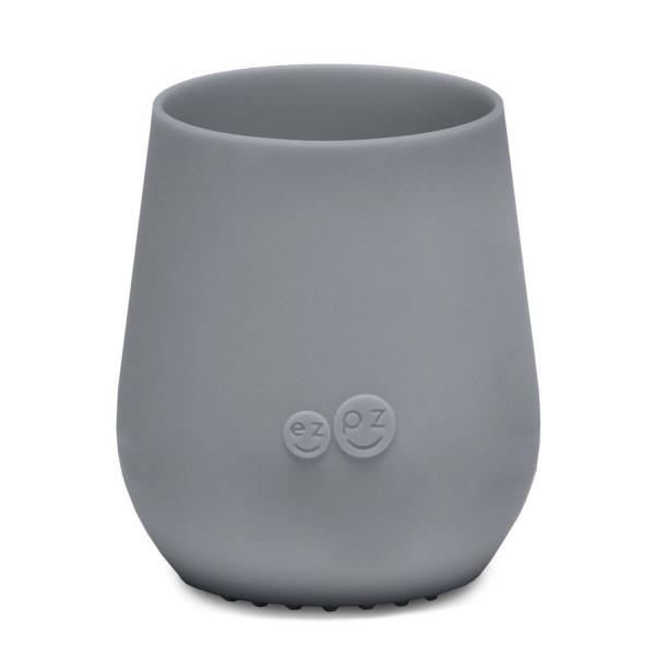 ezpz Tiny Cup Silikon Trinkbecher grau