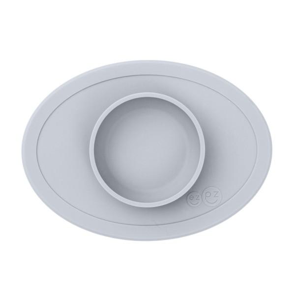 ezpz Tiny Bowl Silikon Platzmatte Teller silber grau