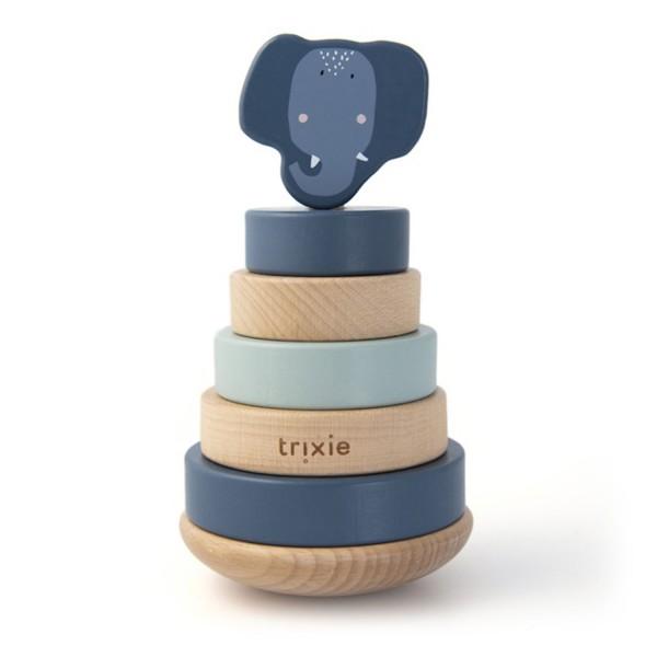Trixie Holz Stapelturm Mrs. Elephant blau
