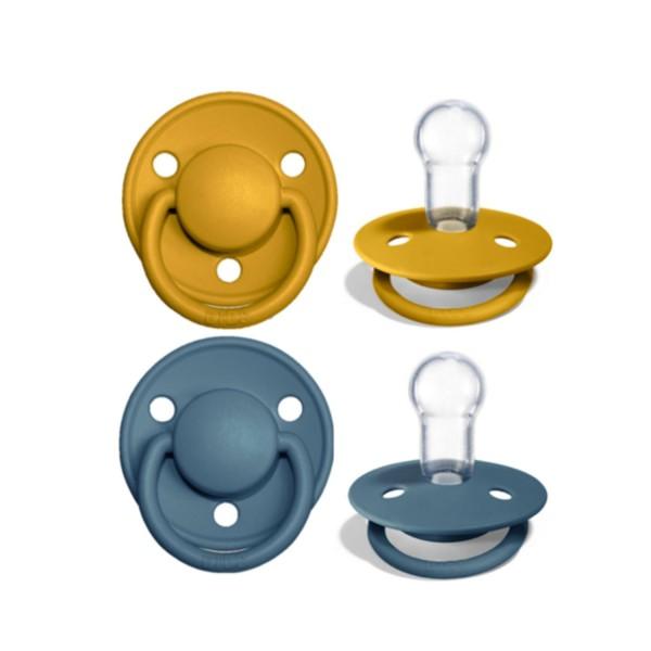 BIBS De Lux Silikon 2er One Size | Mustard Petrol