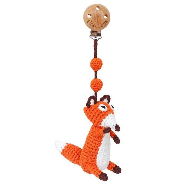 Sindibaba Kinderwagen Anhänger Fuchs orange